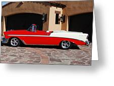 1956 Chevrolet Belair Convertible Greeting Card