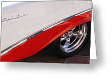 1956 Chevrolet Belair Convertible Wheel Greeting Card