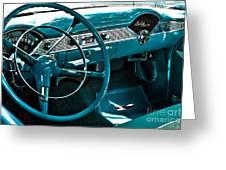 1956 Chevrolet Belair Interior Hdr No 1 Greeting Card