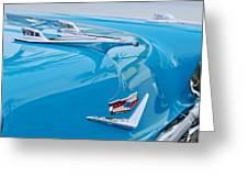 1956 Chevrolet Belair Nomad Hood Ornament Greeting Card