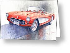 1956 Chevrolet Corvette C1 Greeting Card