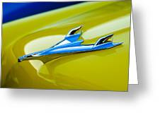 1956 Chevrolet Hood Ornament Greeting Card