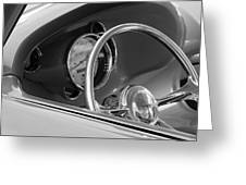1956 Chrysler Hot Rod Steering Wheel Greeting Card