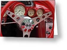 1956 Corvette Dashboard Greeting Card