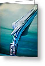 1956 Fiat Hood Ornament 2 Greeting Card by Jill Reger