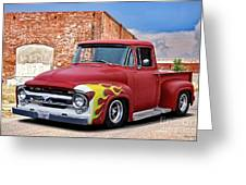 1956 Ford F100 'brickyard' Pickup Greeting Card