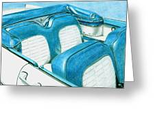 1956 Ford Fairlane Convertible 1 Greeting Card