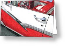 1956 Ford Fairlane Convertible 2 Greeting Card