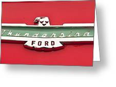1956 Ford Thunderbird Emblem Greeting Card