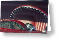 1956 Ford Thunderbird Speedometer - Steering Wheel -0714c Greeting Card