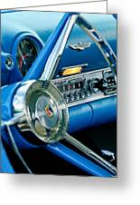 1956 Ford Thunderbird Steering Wheel And Emblem Greeting Card