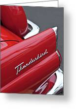1956 Ford Thunderbird Taillight Emblem 2 Greeting Card