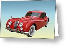 1956 Jaguar Xk 140 Mc Greeting Card
