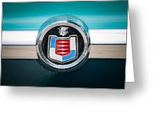 1956 Mercury Monterey Emblem Greeting Card