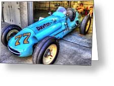 1956 Schroeder Roadster #77 Greeting Card