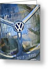 1956 Volkswagen Vw Bug Head Light Greeting Card