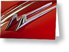 1957 Cadillac Eldorado Biarritz Hood Ornament Greeting Card