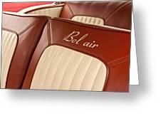 1957 Chevrolet Bel Air Seats Greeting Card