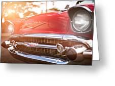 1957 Chevrolet Bel Air Sunset Greeting Card