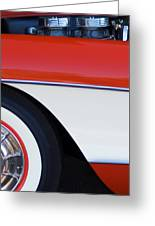 1957 Chevrolet Corvette Convertible Front End Greeting Card