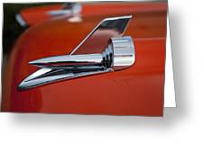 1957 Chevrolet Hood Ornament Greeting Card