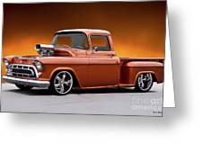 1957 Chevrolet Stepside Pickup L Greeting Card