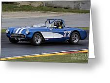 1957 Chevy Corvette At Road America Greeting Card