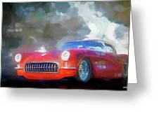 1957 Corvette Hot Rod Greeting Card
