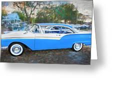 1957 Ford 2 Door Fairlane C130 Greeting Card