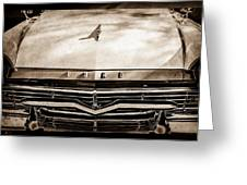 1957 Ford Custom 300 Series Ranchero Grille Emblem -0465s Greeting Card