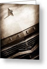 1957 Ford Custom 300 Series Ranchero Hood Ornament - Emblem -0477s Greeting Card