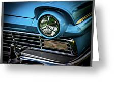 1957 Ford Detail Greeting Card