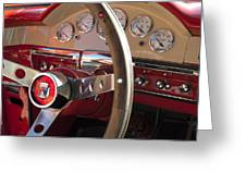 1957 Ford Fairlane Steering Wheel Greeting Card