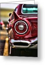 1957 Ford Thunderbird Red Convertible Greeting Card