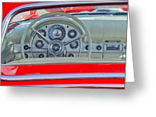 1957 Ford Thunderbird Steering Wheel Greeting Card