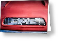 1957 Gmc Pickup Truck Grille Emblem -0329c1 Greeting Card