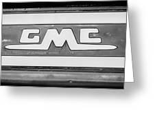 1957 Gmc Pickup Truck Tail Gate Emblem -0272bw2 Greeting Card