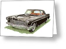 1957 Lincoln Continental Mk II Greeting Card