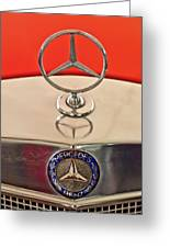 1957 Mercedes-benz 220 S Hood Ornament Greeting Card