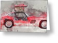 1957 Mercedes Gullwing Greeting Card