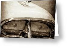 1957 Mercury Turnpike Cruiser Emblem -0749s Greeting Card by Jill Reger