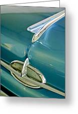 1957 Oldsmobile Hood Ornament 5 Greeting Card