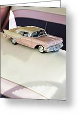 1957 Oldsmobile Super 88 Matchbox Car Greeting Card