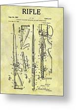 1957 Rifle Patent Greeting Card