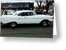 1957 White Chevy Greeting Card