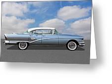 1958 Buick Roadmaster 75 Greeting Card