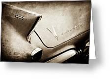 1958 Cadillac Eldorado Biarritz Taillight Emblems -0255s Greeting Card