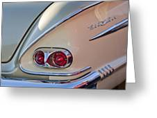 1958 Chevrolet Belair Taillight Greeting Card