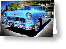 1955 Chevy Baby Blue Greeting Card