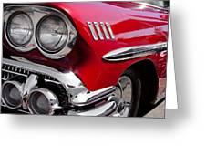 1958 Chevy Impala Greeting Card